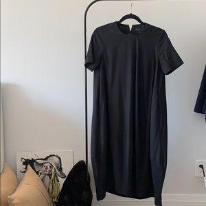 COS black balloon midi dress